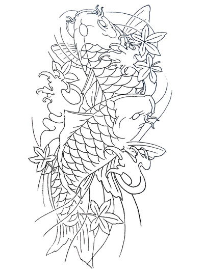 400x536 Koi Fish Tattoos