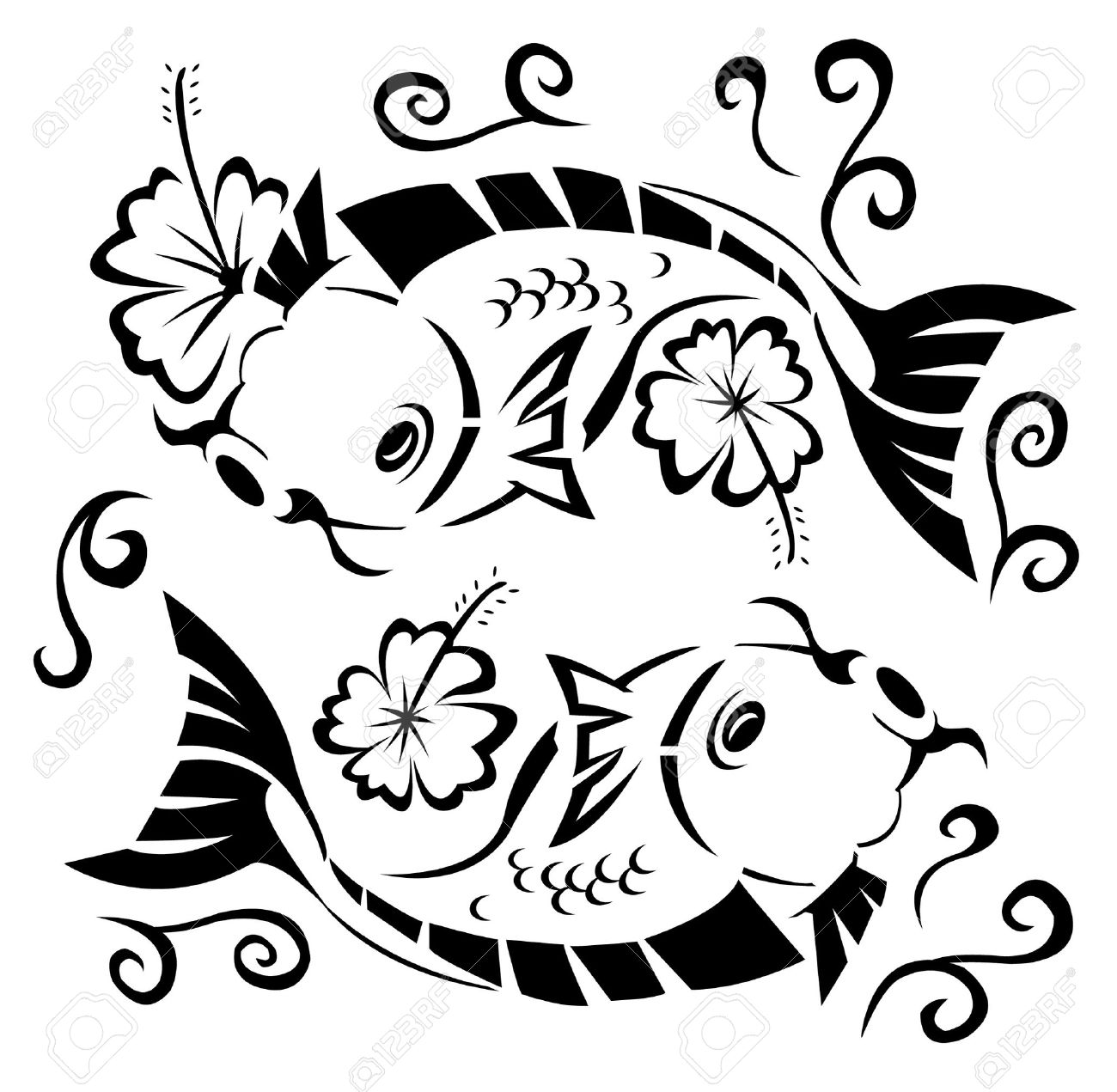 1300x1271 Japanese Koi Fish Clipart