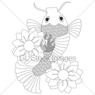 325x325 Koi Fish And Lotus Gl Stock Images