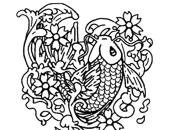 600x450 Koi Fish Bring Fortune To People Coloring Pages