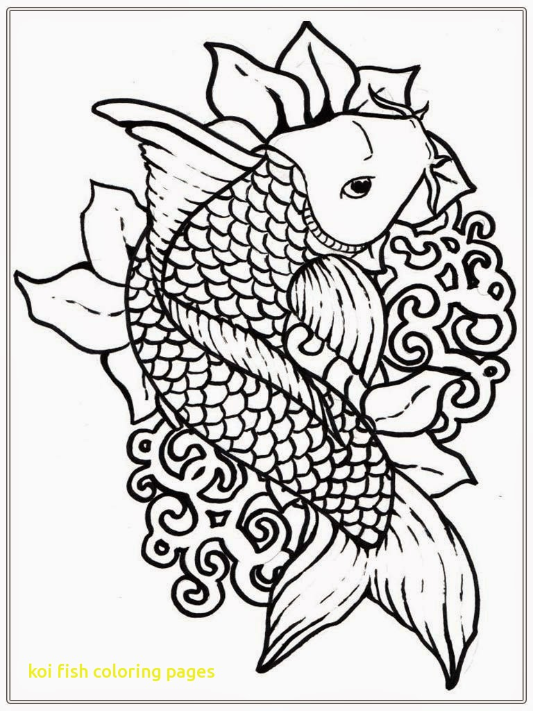 768x1024 Koi Fish Coloring Pages With Japanese Koi Coloring Pages And Print