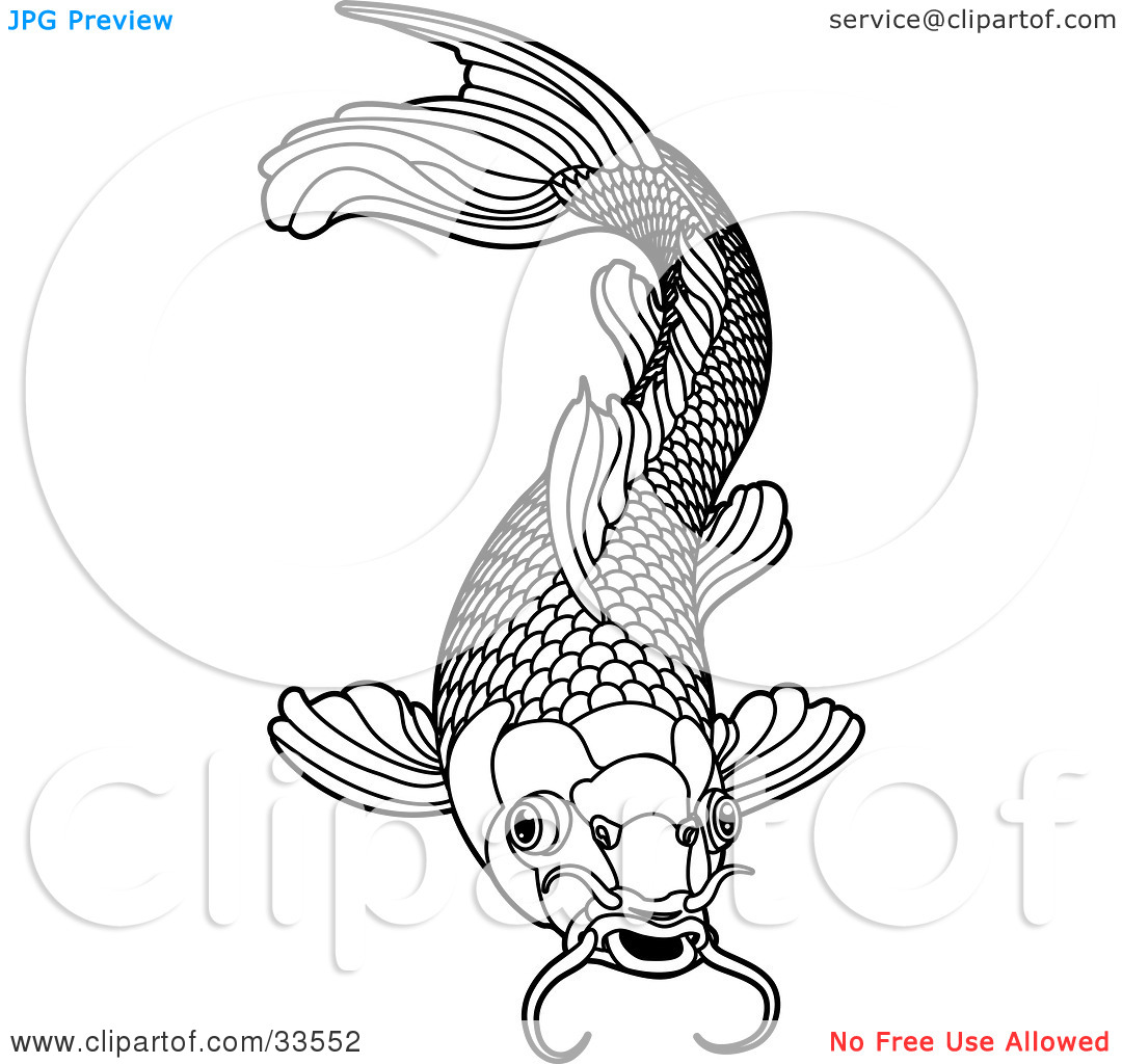 1080x1024 Black And White Fish Scales Clipart