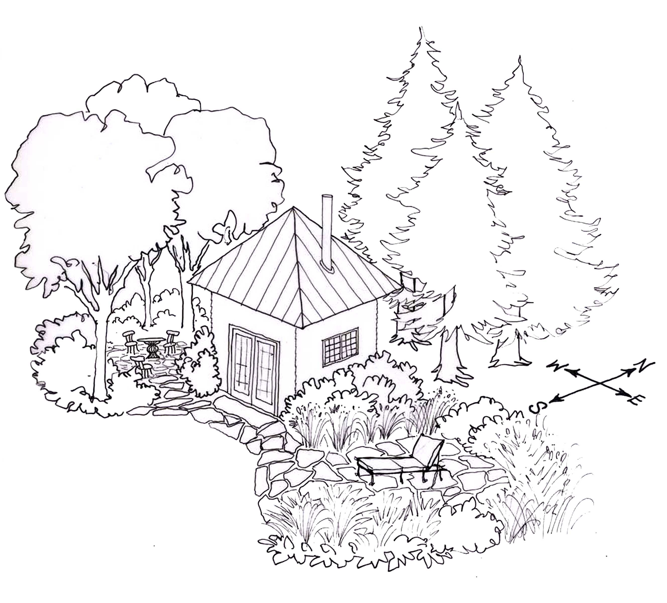 how to draw architectural trees