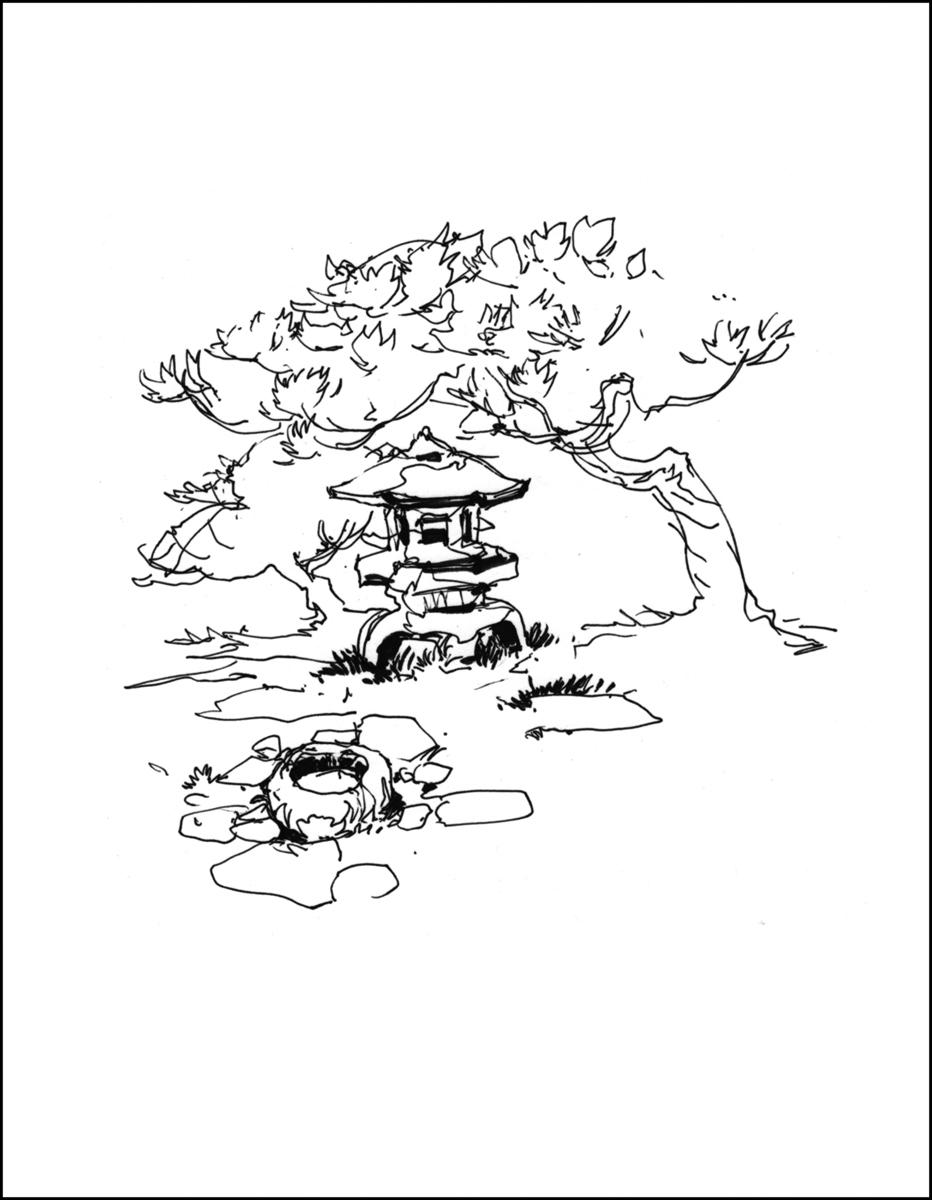 932x1200 Japanese Garden (Return Trip) Urban Sketchers