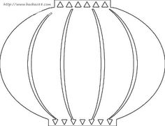 236x181 Chinese Lantern Printable Outline In Black Crayon And Then