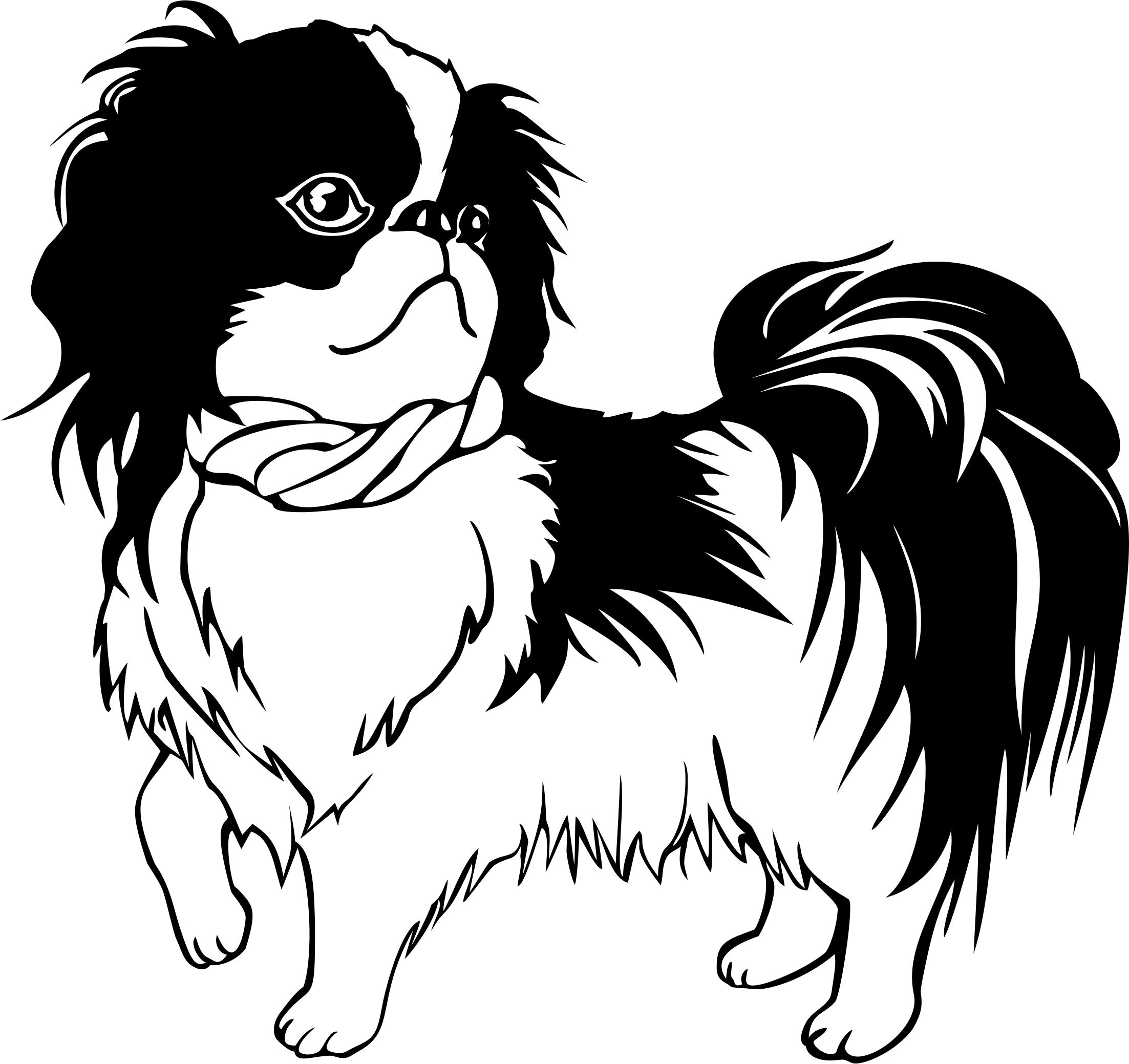 2205x2078 Japanese Chin Dog Line Art Icons Png