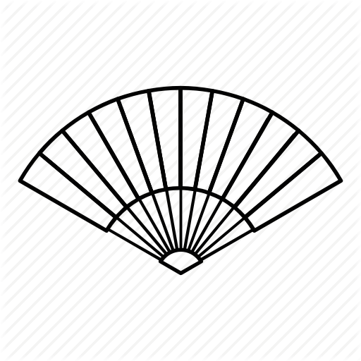 512x512 Asian, Culture, Fan, Japanese, Line, Outline, Traditional Icon