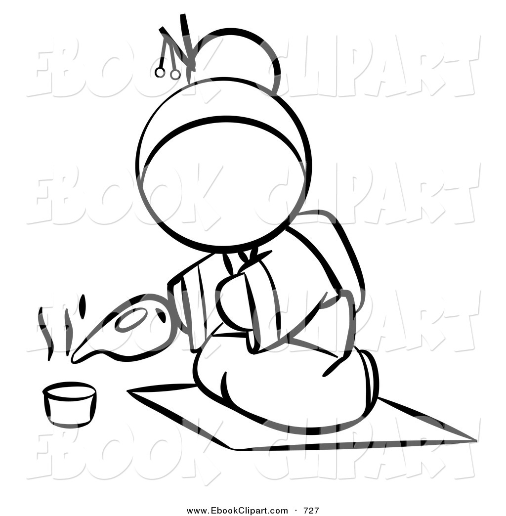1024x1044 Japanese Clipart Black And White