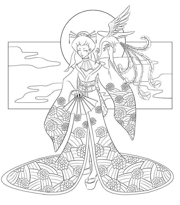 615x700 Lineart Japanese Except Not By Quatrina