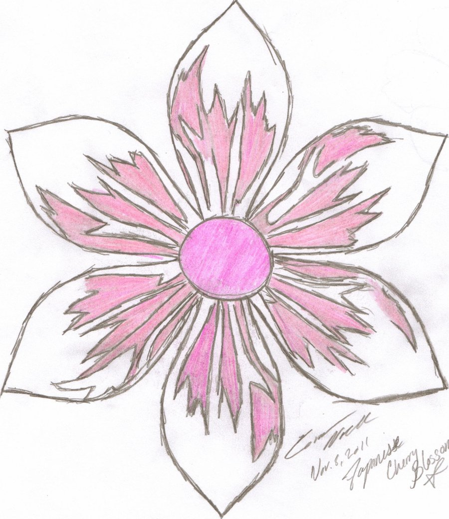 900x1040 Drawn Flower Japanese