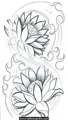 236x413 Japanese Lotus Lotus Tattoos Japanese Lotus Sketch Dig Tattoos
