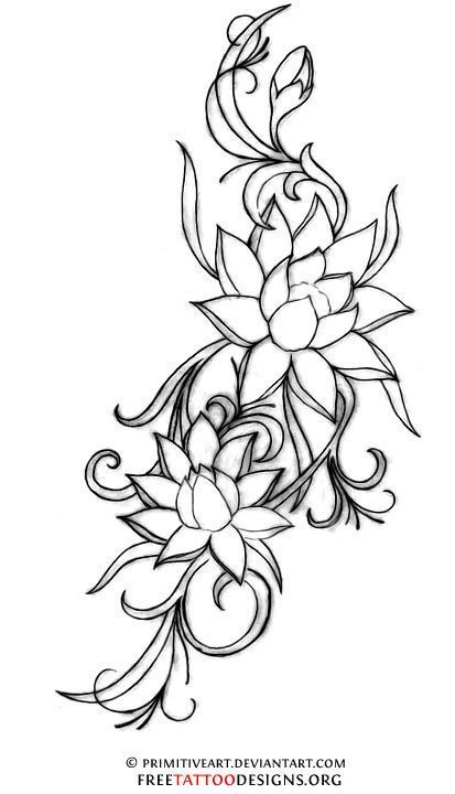 413x720 Collection Of Japanese Lotus Tattoo Designs On Feet