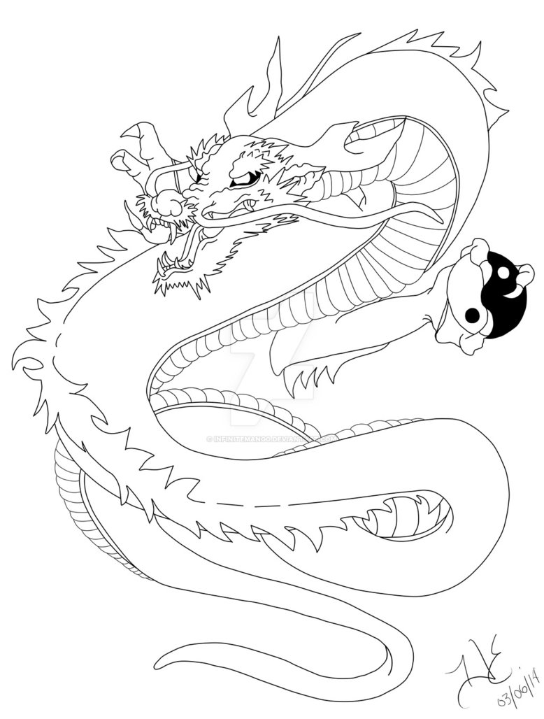 778x1028 Japanese Dragon Tattoo Design By Infinitemango