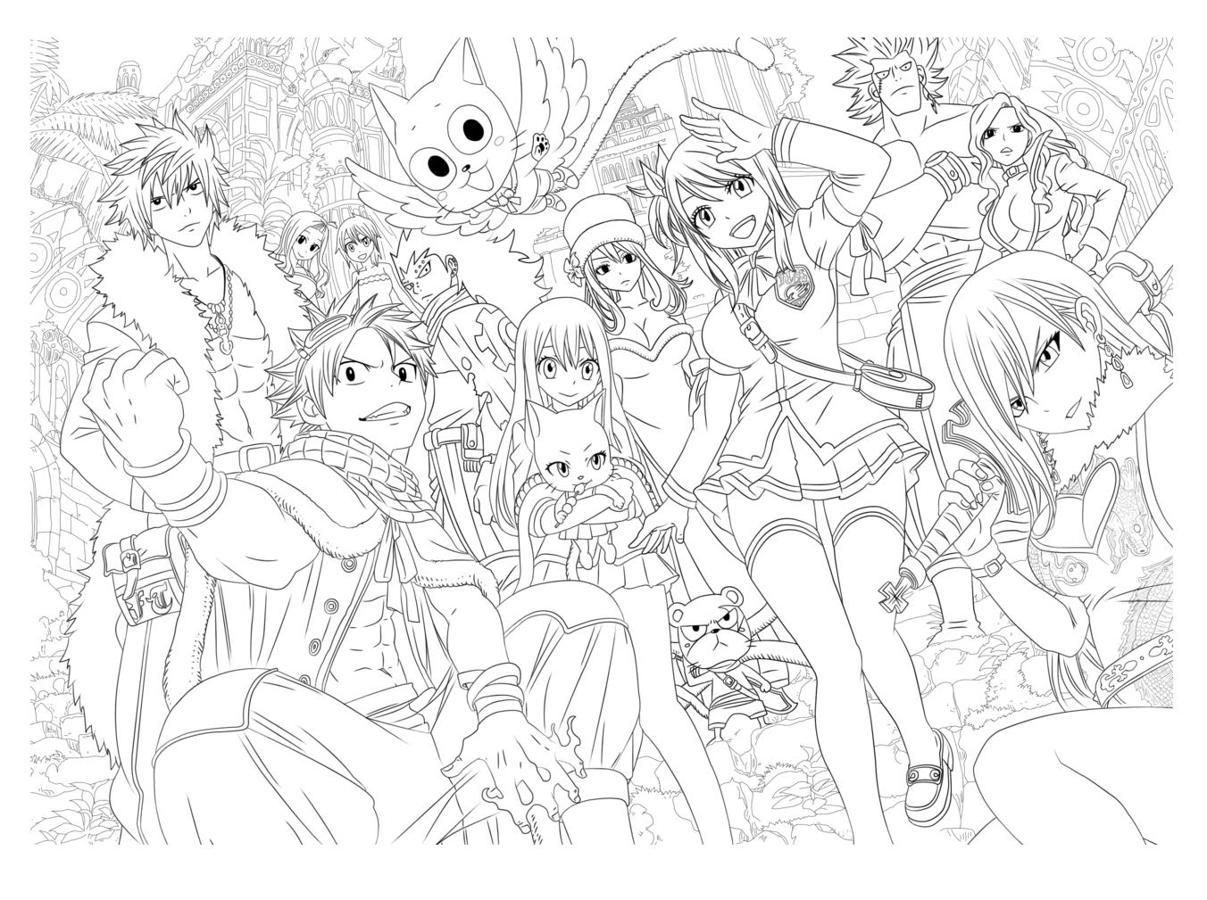1352x1009 Manga Characters By Tobeyd Manga Anime
