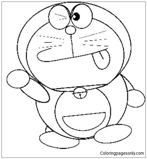 480x519 Doraemon Japanese Manga Coloring Page