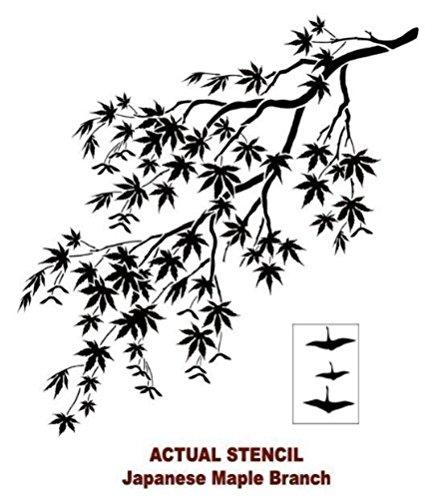 425x499 Stencil Japanese Maple Branch