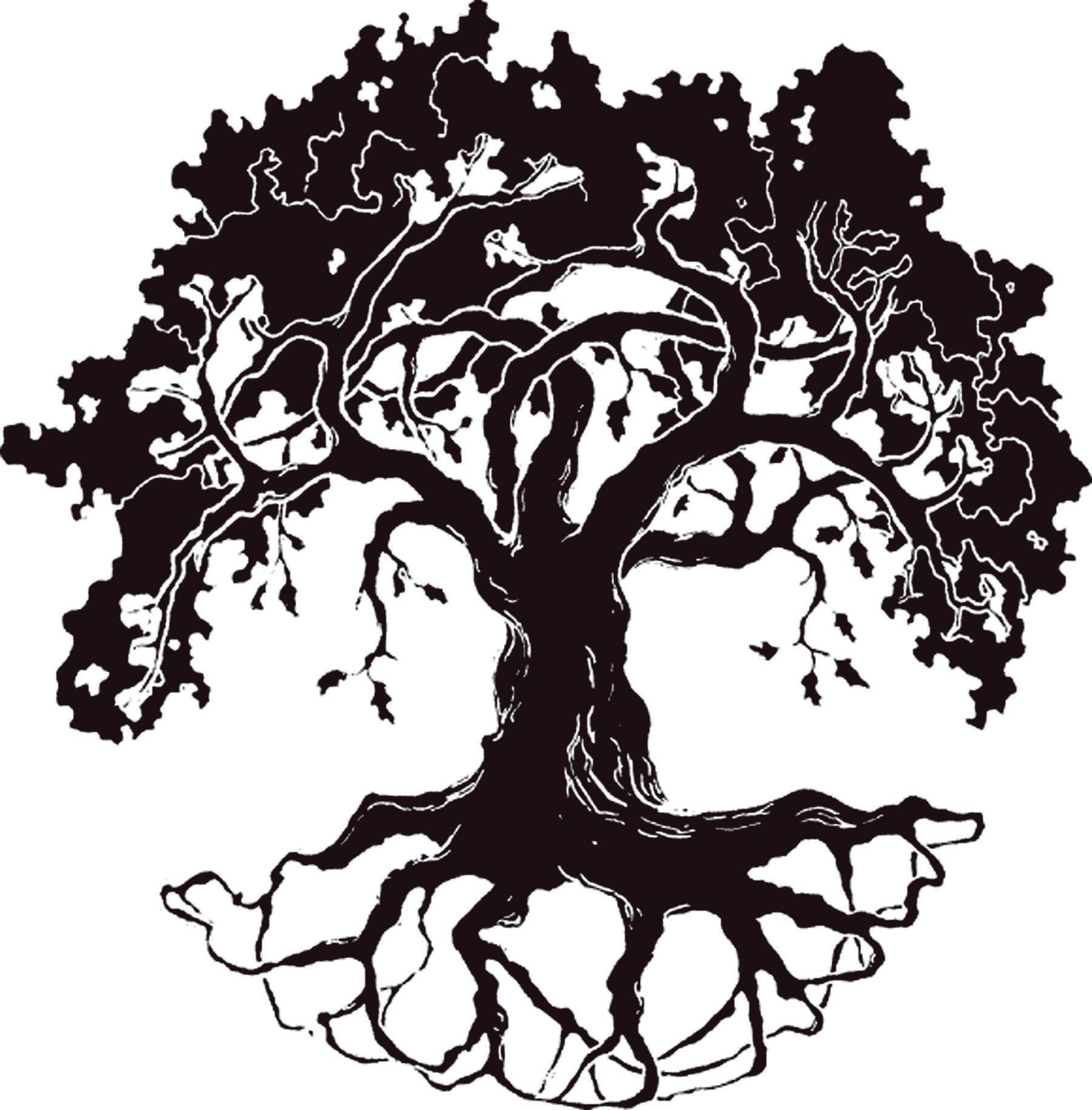 1800x1831 Simple Oak Tree Silhouetet Clipart
