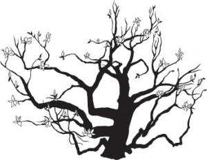 300x233 Wedding Logo Japanese Magnolia Tree What's Jenny Making