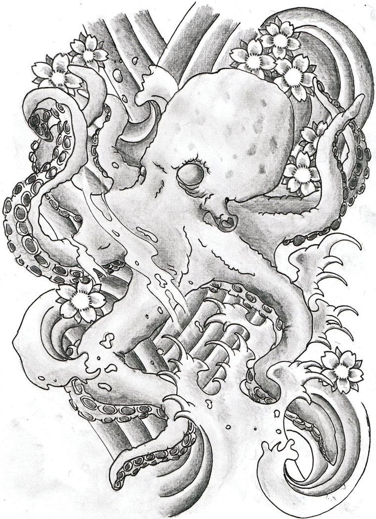 761x1050 Octopus Japanese By Kellogsj