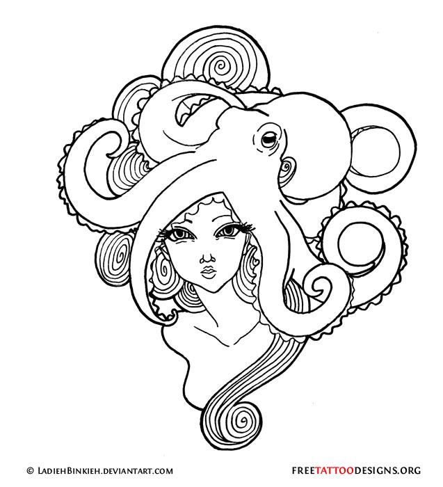 637x700 66 Octopus Tattoo Designs