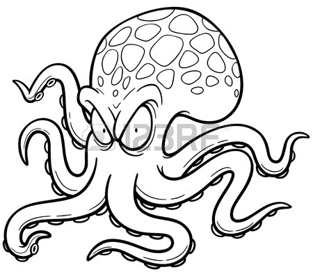 Japanese Octopus Drawing At Getdrawings Com Free For