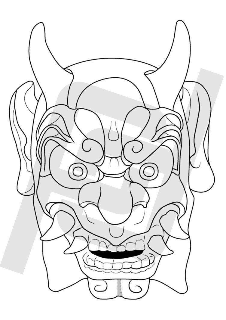 752x1063 Oni Mask
