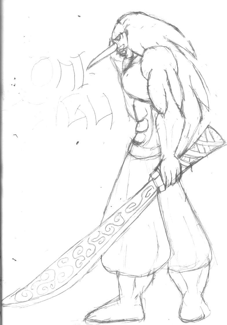 784x1120 Oni Demon Face Drawings