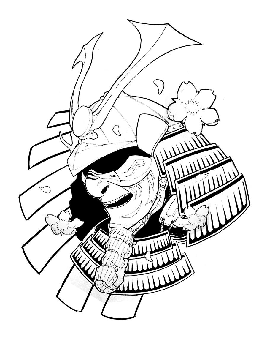 900x1165 A R C H I V E ] Samurai Helmet Tattoo Samuari Mask Tattoos