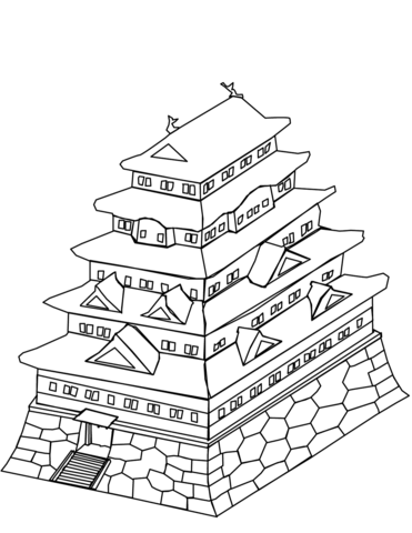 371x480 Japanese Castle Coloring Page Free Printable Coloring Pages