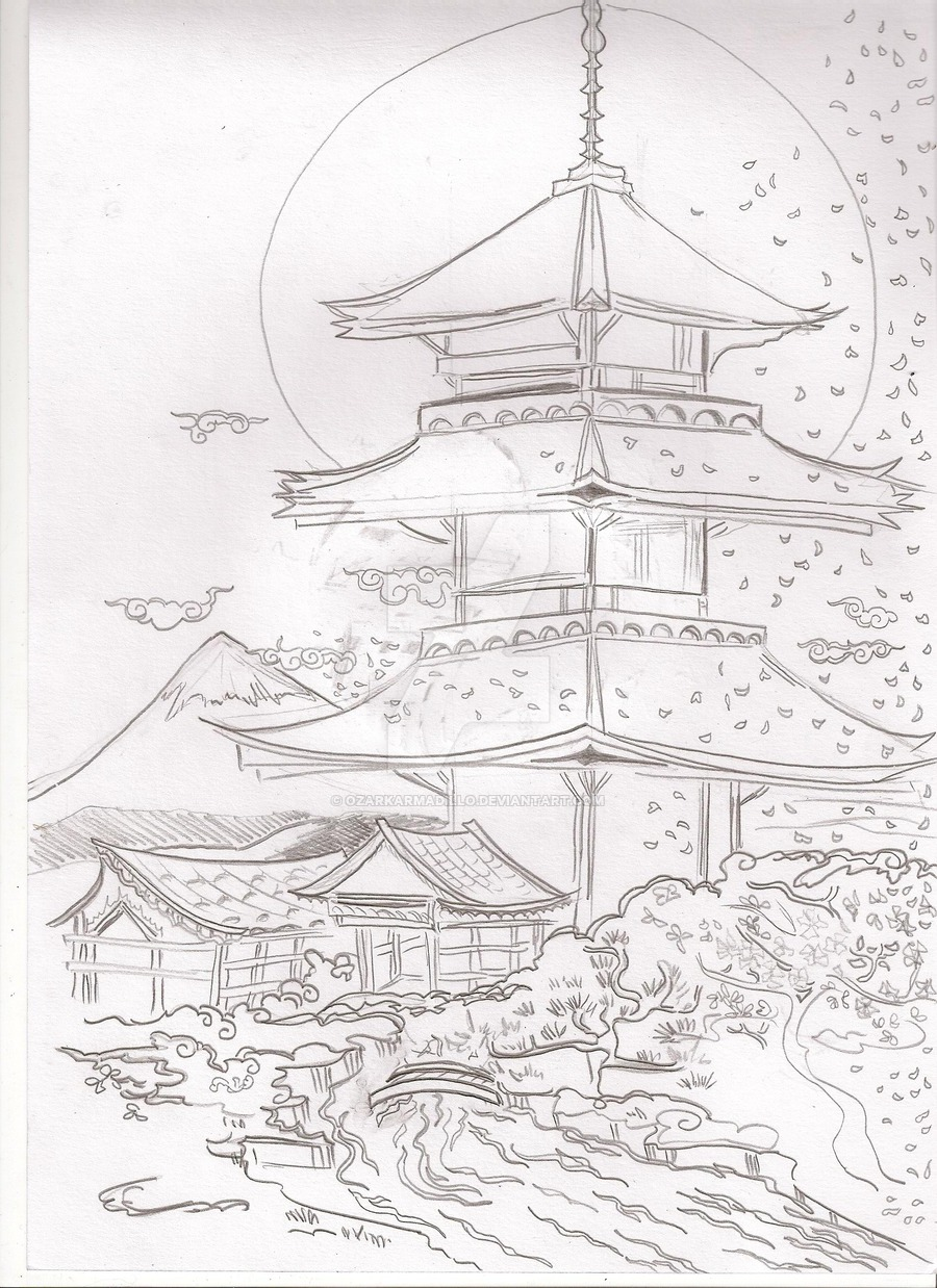 900x1238 Pagoda Scene For Logo By Ozarkarmadillo