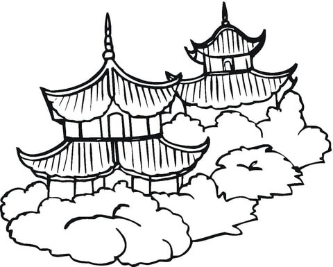 480x385 Pagodas Coloring Page Free Printable Coloring Pages