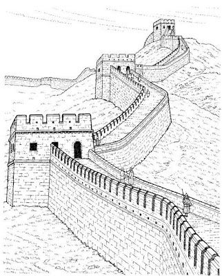 322x400 How To Draw The Great Wall Of China Step 4 Art Tutorial
