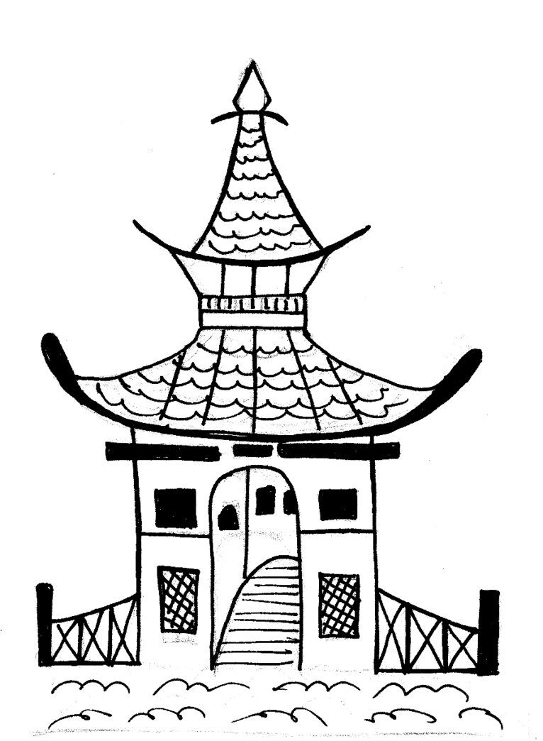 766x1044 A Pagoda By Barrymonster Art Ideas Music Class