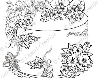 340x270 Peony Coloring Page Etsy