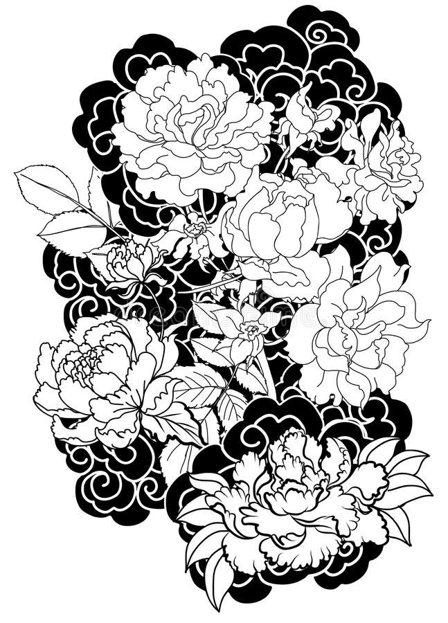 647x900 Unique Japanese Peony Drawing 2018