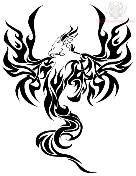 461x595 Japanese Phoenix Tattoo Sample