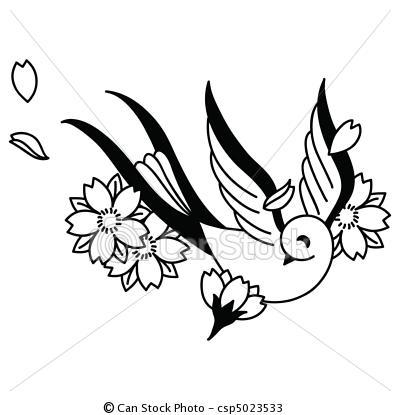 400x415 Cherry Blossom Swallow C006