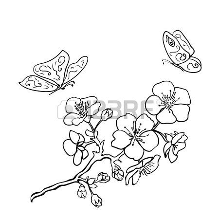 450x450 Cherry Blossom Japanese Sakura Vector Icon Set. Nature Japanese