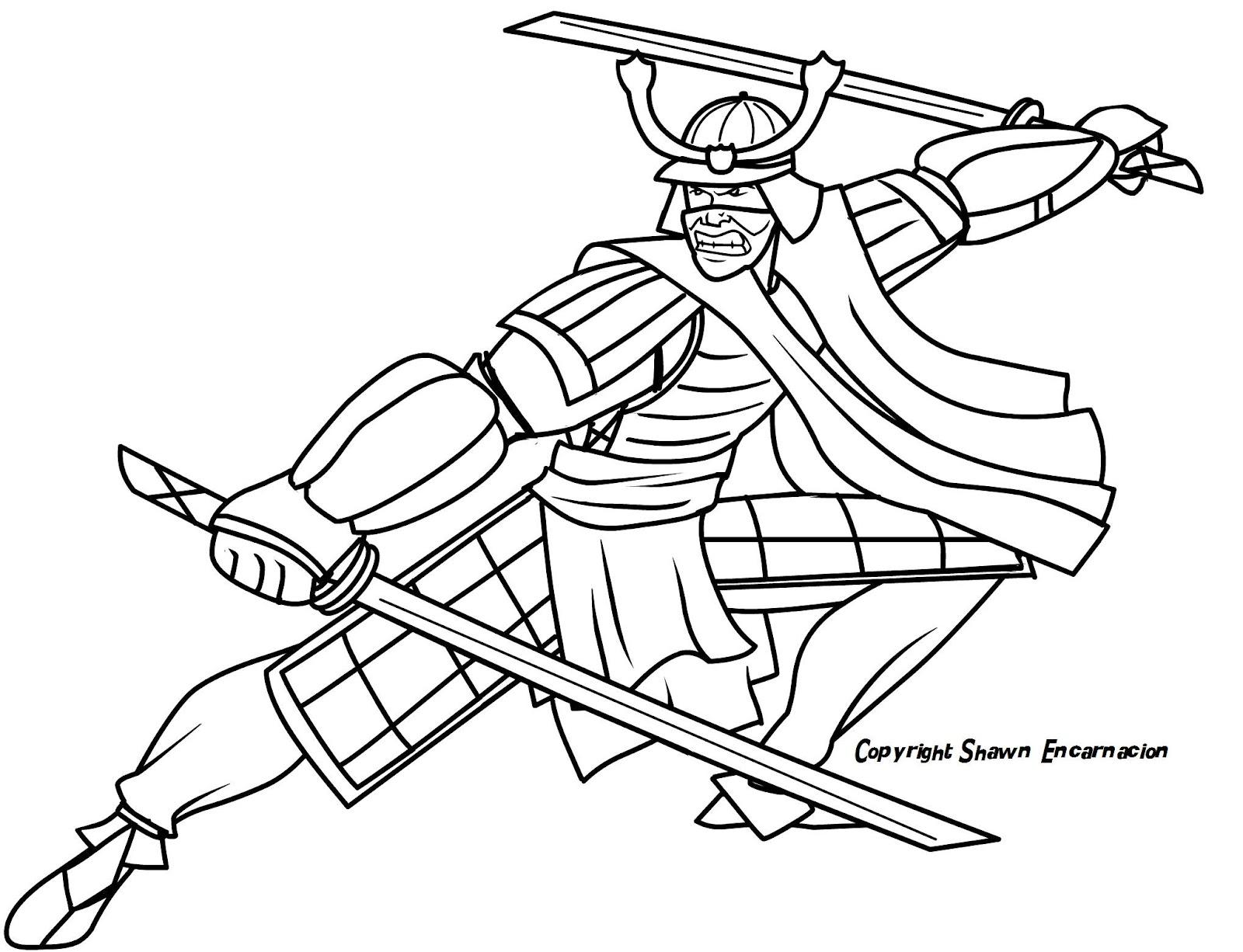 Samurai Helmet Template - Costumepartyrun