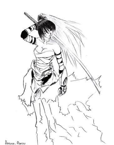 365x463 Samurai Girl By Harukatenou