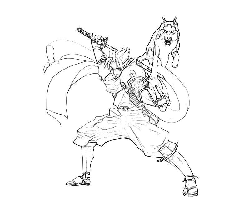 800x667 Samurai Warrior Coloring Page