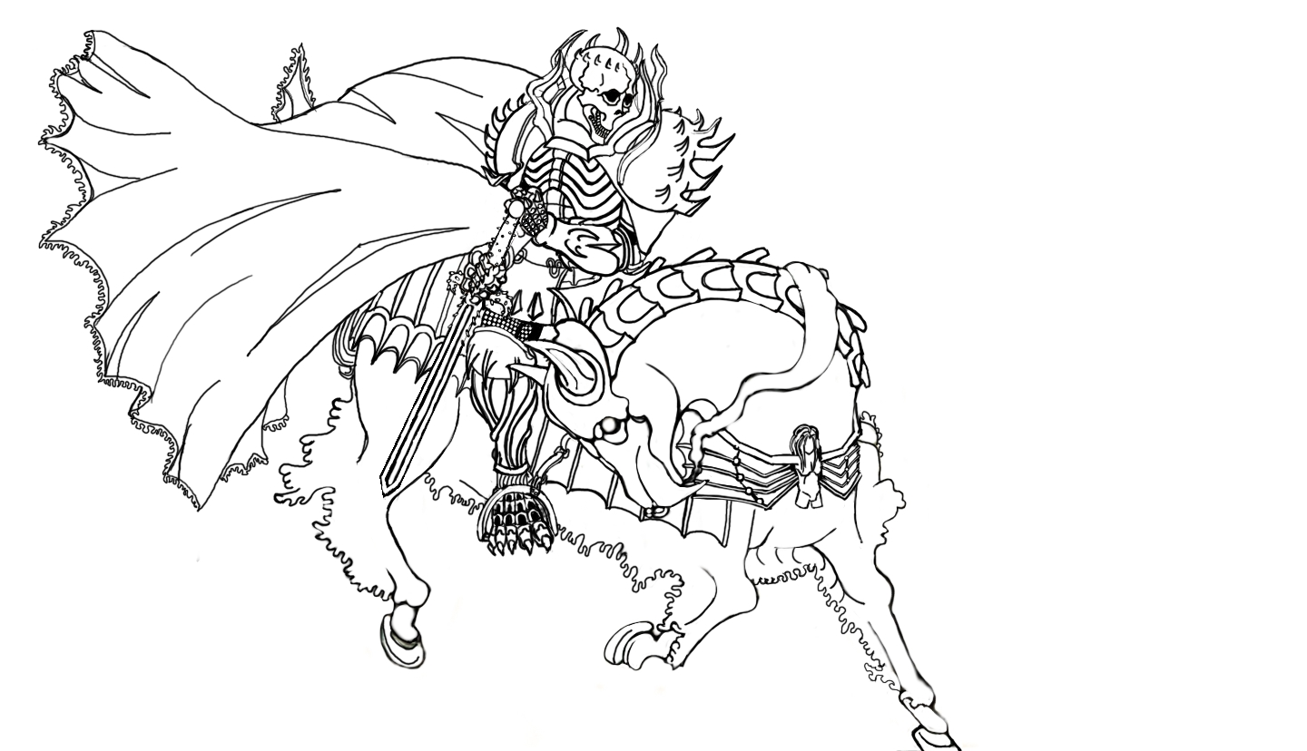 1440x828 Skull Knight Drawing I Did, Trying To Mimic The Old