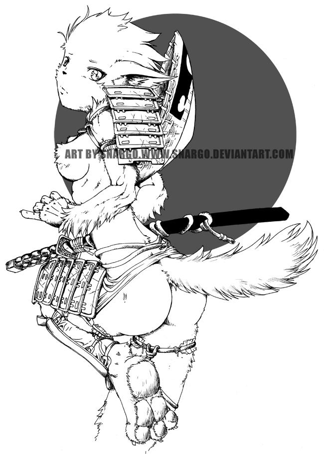 650x911 Straw Hat Samurai By Snargo