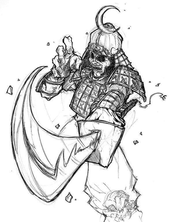 600x770 Samurai Drawings
