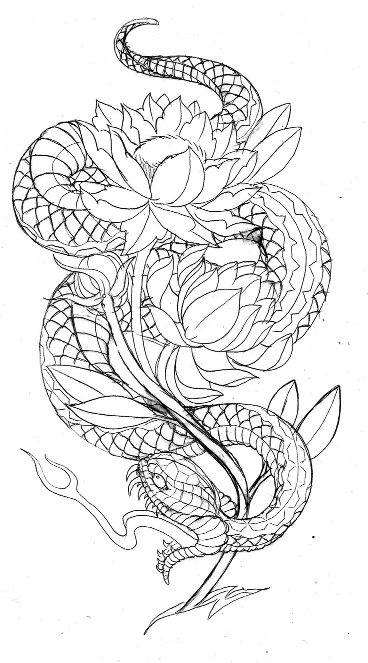 736x1324 Japanese Snake Tattoo Designs Japanese Snake Print