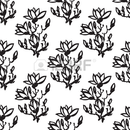 450x450 Seamless Vertical Pattern Or Wallpaper Design With Drawing