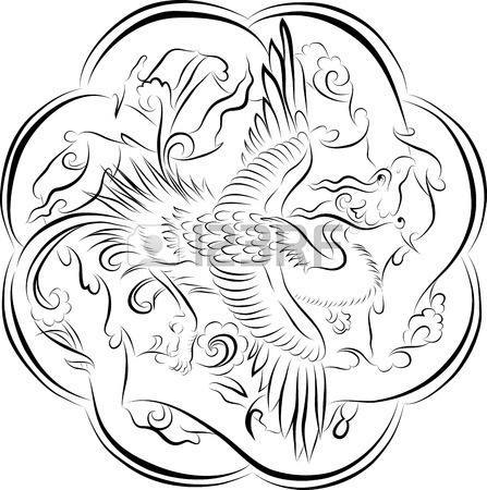 447x450 Vector Drawing Sketch Of Traditional Japanese House Royalty Free