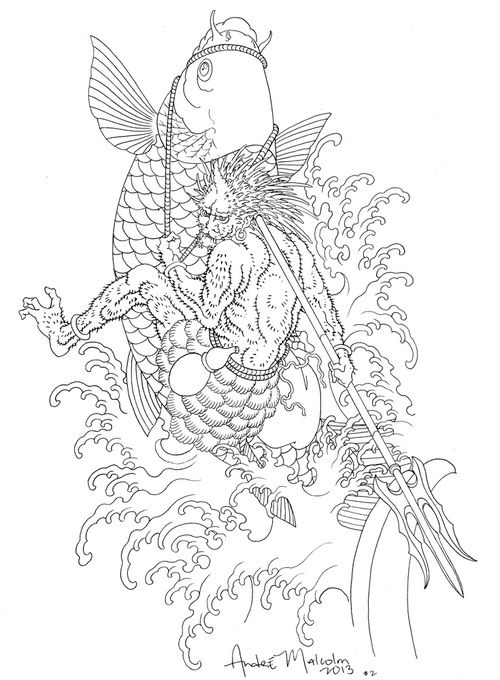 500x680 66 Best Koi Images On Japanese Tattoos, Fish Tattoos