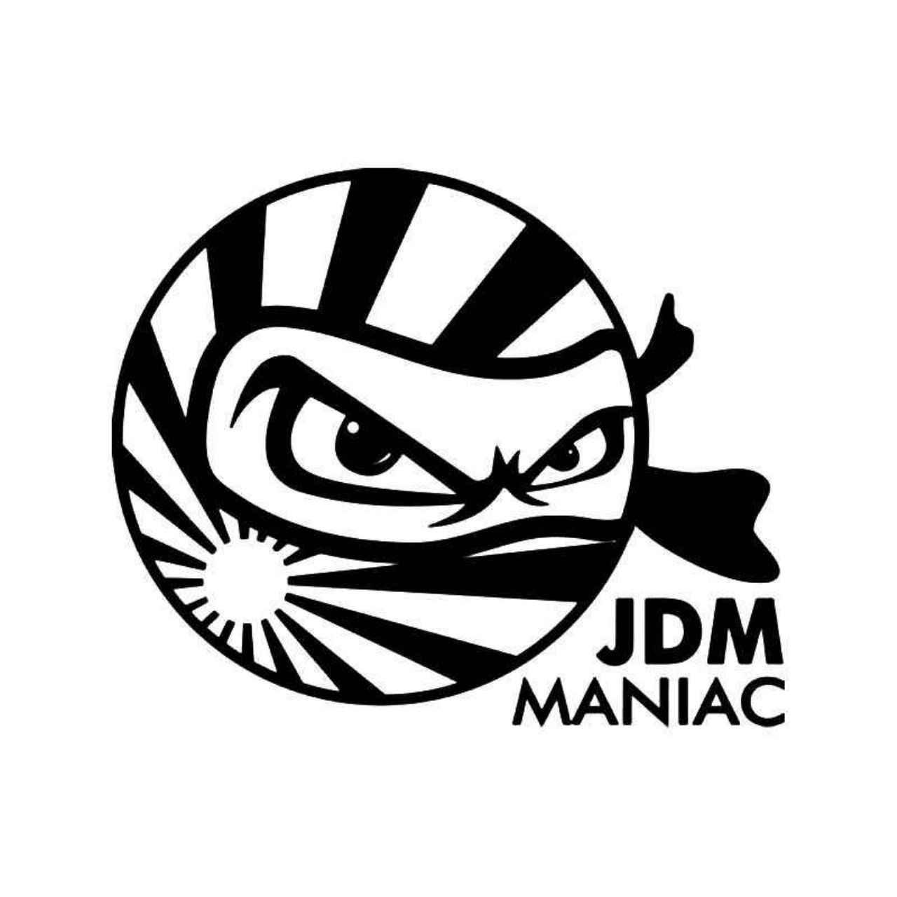 1280x1280 Maniac Ninja Rising Sun Japanese Vinyl Decal Sticker