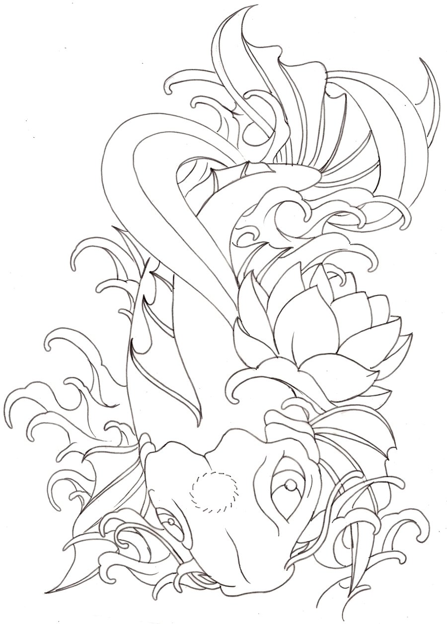 900x1255 Japanese Koi Tattoo 4 By ~metacharis On Tattoos